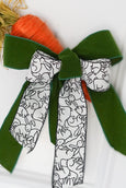 helloholidays,Black & White Linen Ribbon with Rabbits,dStevens,Ribbon