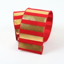 helloholidays,Red Gold Stripes,Farrisilk,Ribbon.