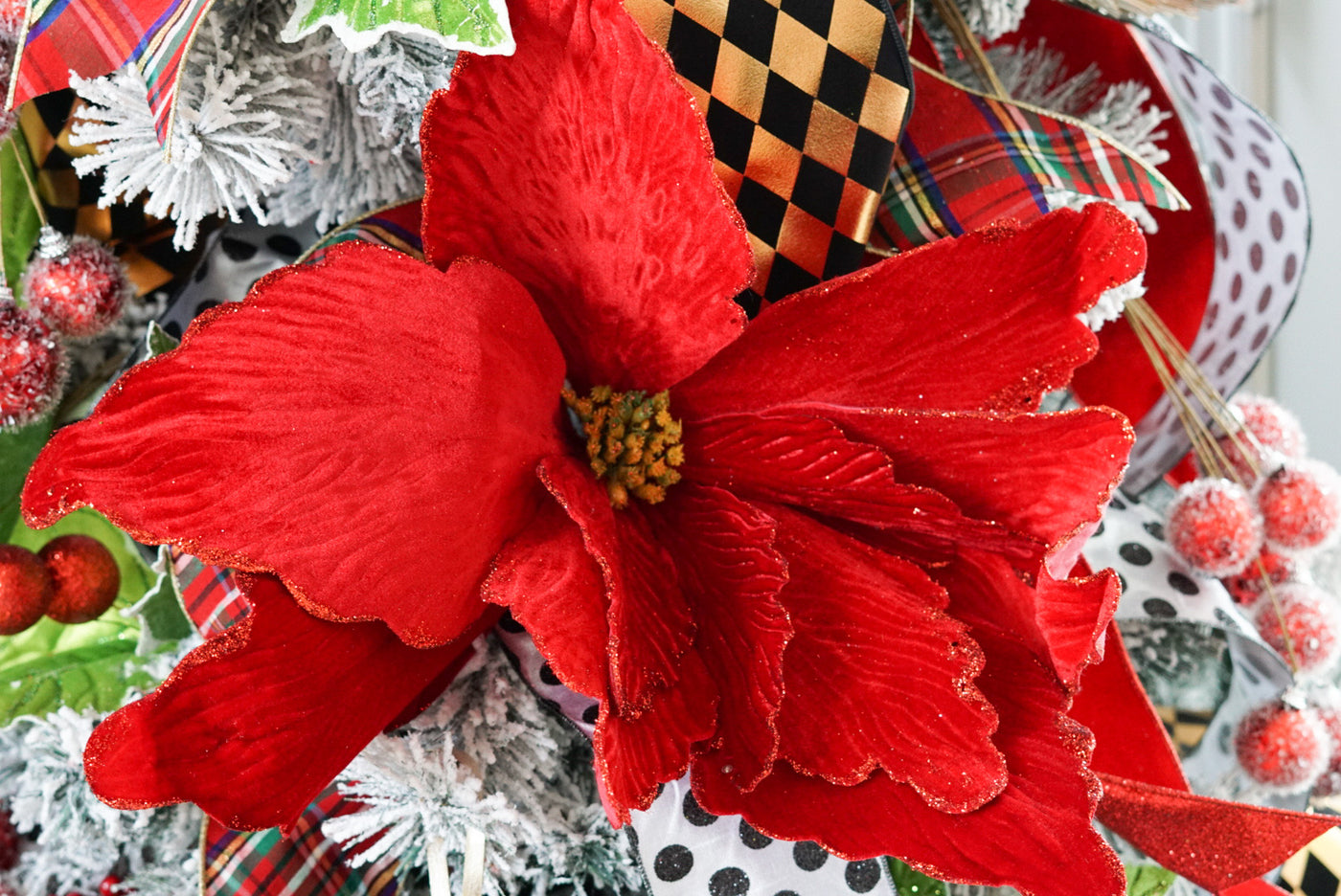 helloholidays,Super Large Poinsettia Pick,Regency,Spray