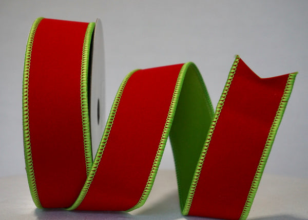 helloholidays,Red Green Velvet Ribbon,Lion,Ribbon
