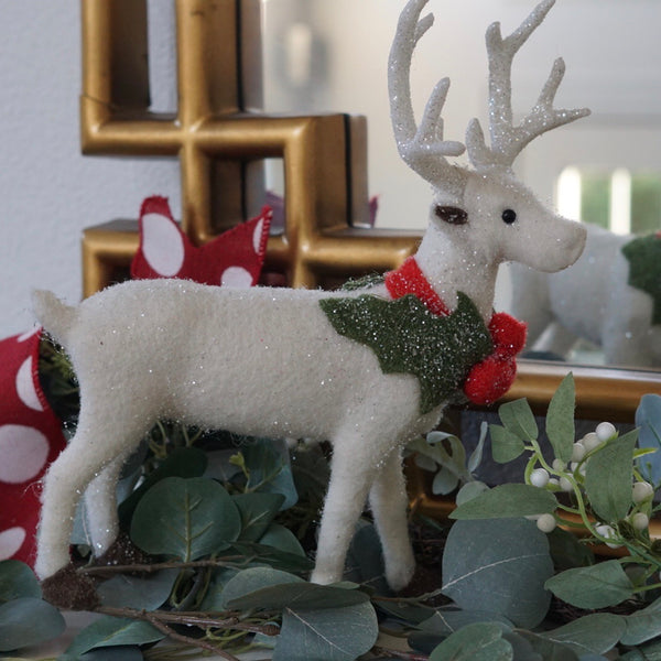 helloholidays,Wool Farmhouse Deer,Creative coop,Christmas Decoration