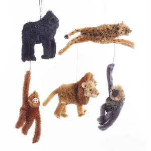 SAFARI ANIMAL ORNAMENTS