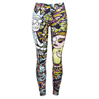 Mick And Rorty Leggings alternative punk goth adultswim rick+and+morty - DarkHorseClothingCompany