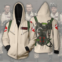 Ghost Busters Zip Up Hoodie costume lazy hooded sweatshirt proton pack sweater cosplay - DarkHorseClothingCompany