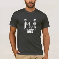 Skeleton I've Got Your Back Short Sleeve T-Shirt many colors spine funny halloween mens womens - DarkHorseClothingCompany