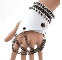 Leather skull slave bracelet goth or cosplay @darkhorseclothingcompany.com