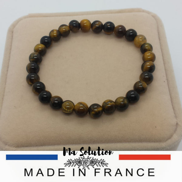 BRACELET OEIL DE TIGRE 6/8MM SIMPLE