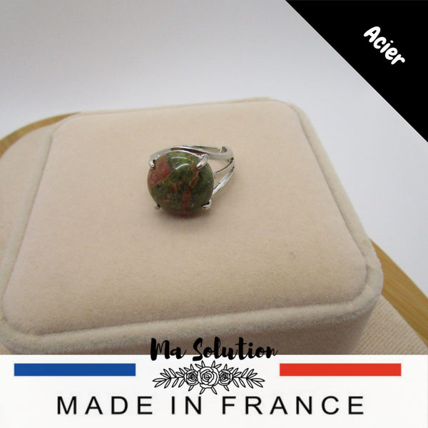 BAGUE REGLABLE UNAKITE GM