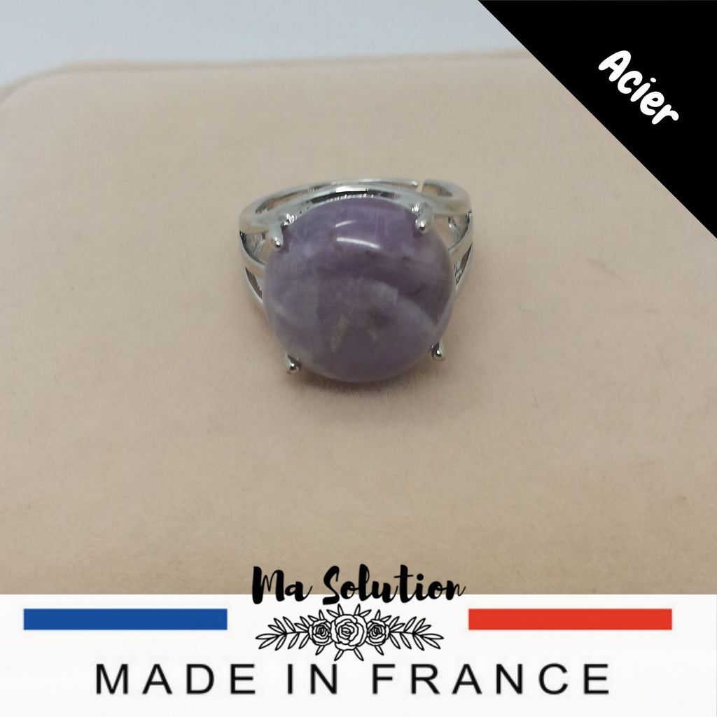 BAGUE REGLABLE AMETHYSTE GM