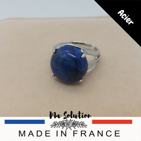 BAGUE REGLABLE LAPIS LAZULI GM - Ma Solution Bijoux