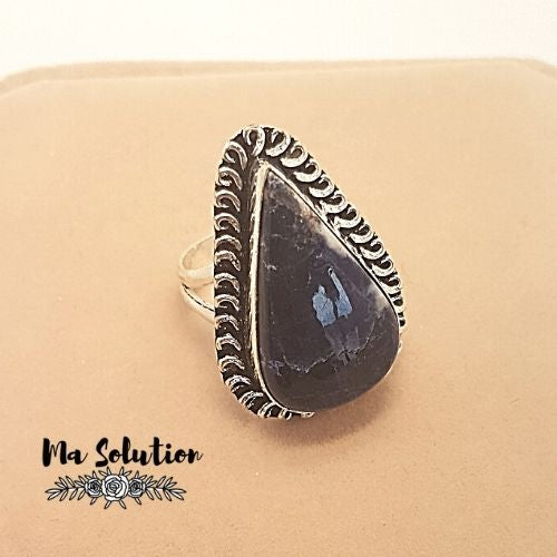 BAGUE REGLABLE SODALITE GM