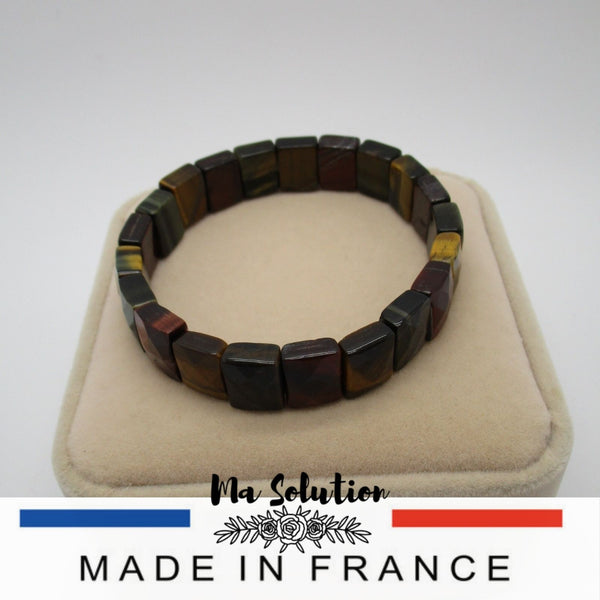 BRACELET OEIL DE TIGRE RECTANGLE - Ma Solution Bijoux
