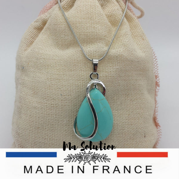 COLLIER GOUTTE TURQUOISE - Ma Solution Bijoux