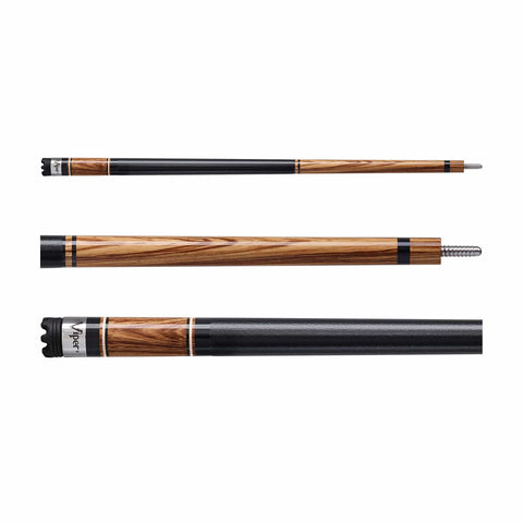 Viper Naturals Zebra Wood Cue - Good Life Game Rooms