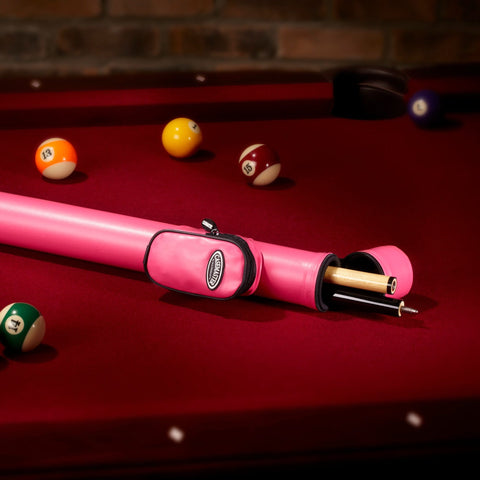 Image of Casemaster Q-Vault Supreme Cue Case (Black, Blue or Pink) - Good Life Game Rooms