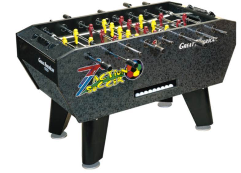 Great American Action Soccer Foosball Table  (Coin Operated Option Available) - Good Life Game Rooms