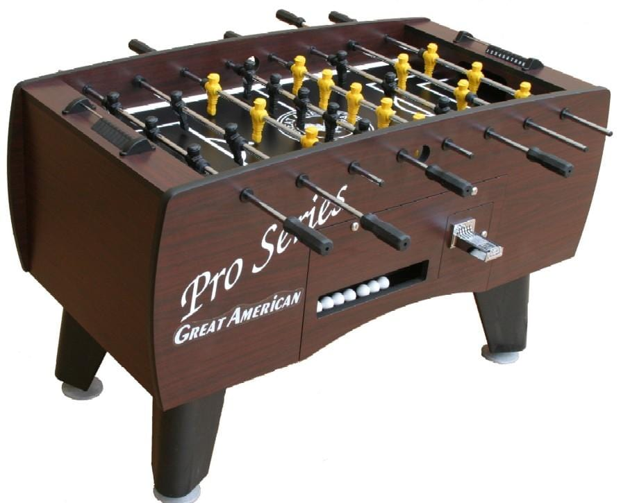Great American Pro Series Soccer Foosball Table (Coin Operated Option Available) - Good Life Game Rooms