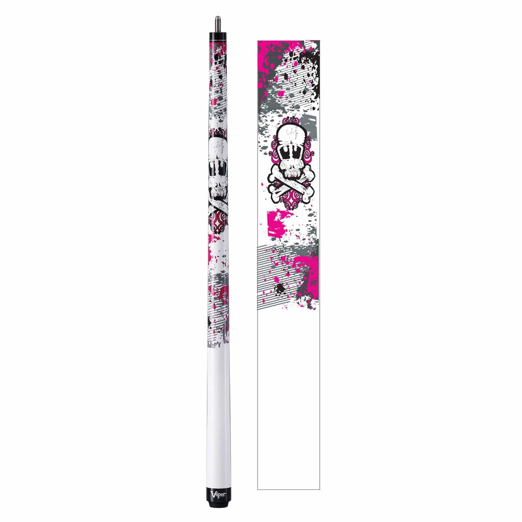 Viper Underground Junior Pink Bones Cue - Good Life Game Rooms