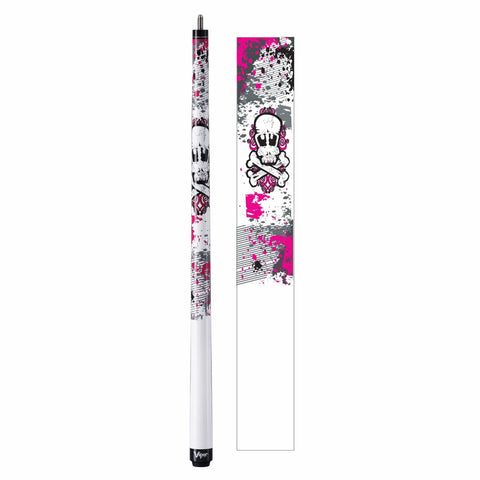 Image of Viper Underground Junior Pink Bones Cue - Good Life Game Rooms