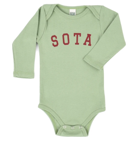 Lilydale Long Sleeve Onesie - Avacado Green