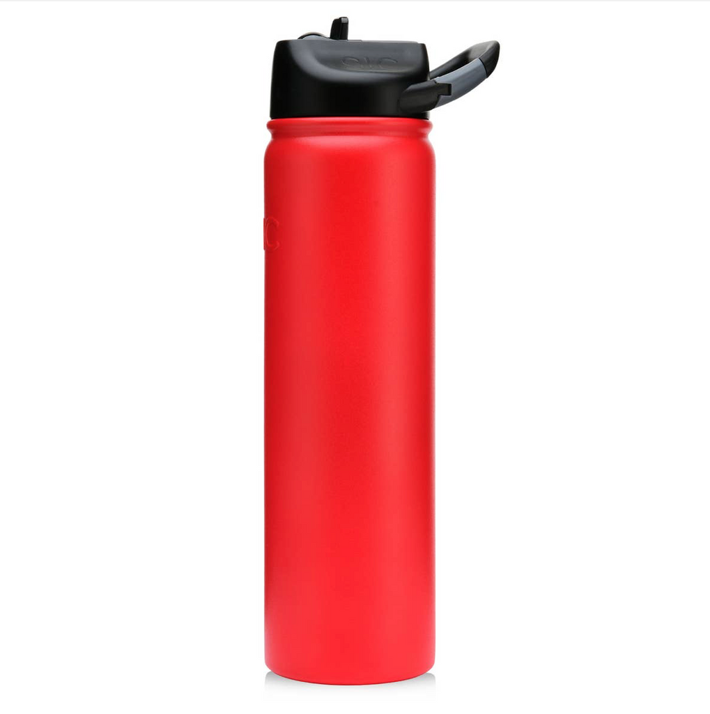 Matte Game Day Red SIC Stainless Steel Water Bottle