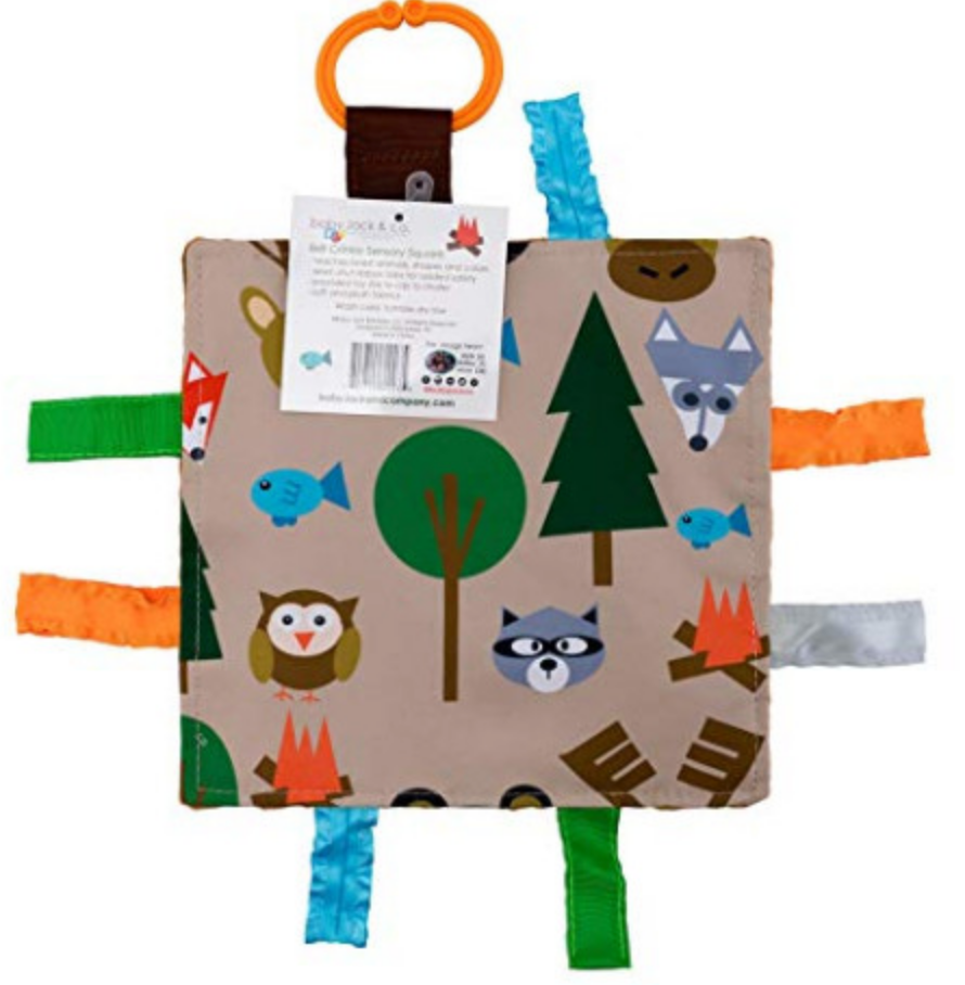 Forest Animals Crinkle Tag Square
