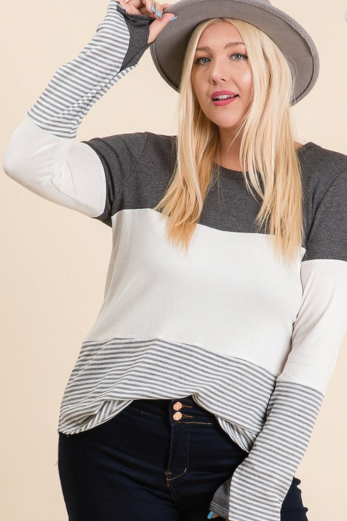 Grey Striped Longsleeve