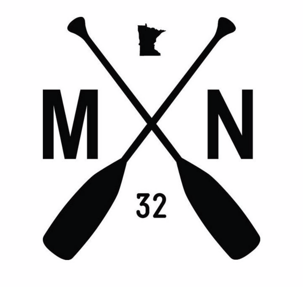 MN Paddle Decal - White
