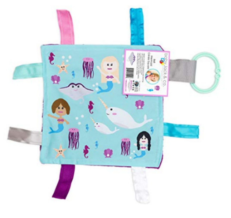 Mermaid Crinkle Tag Square