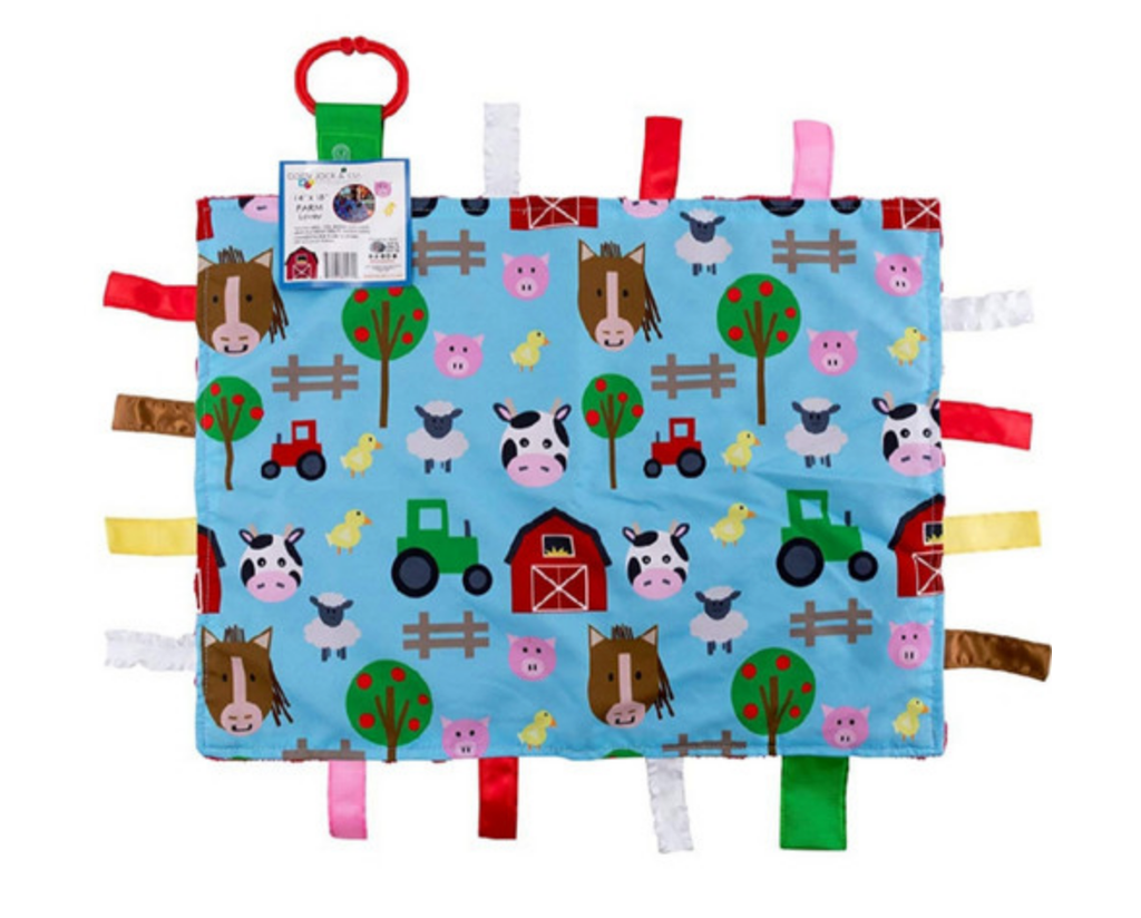 Farm Animal Tag Blanket