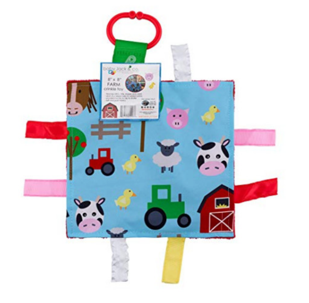 Farm Animals Crinkle Tag Square