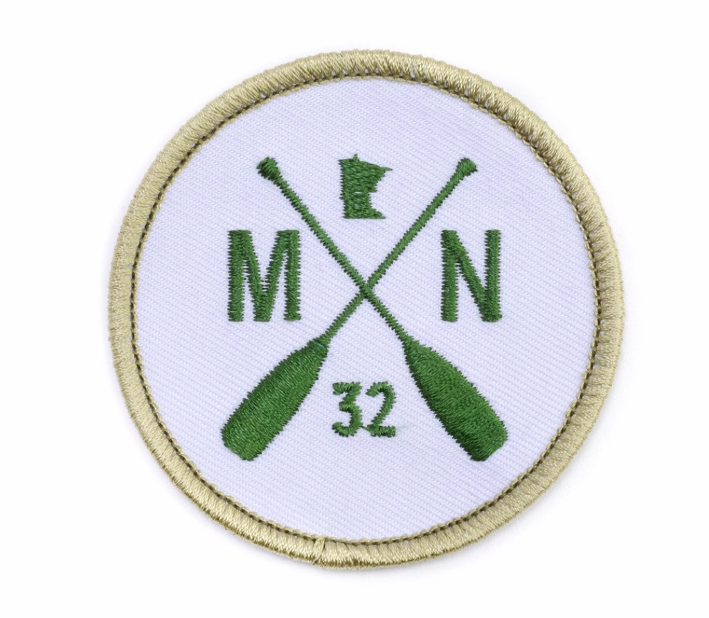 MN Paddle Patch - Green/White