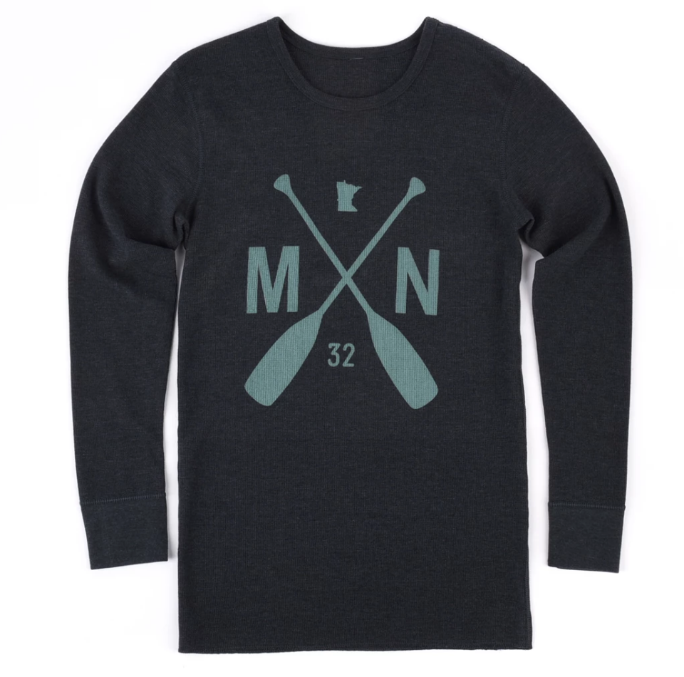 Ely Long Sleeve Thermal - Heather Charcoal