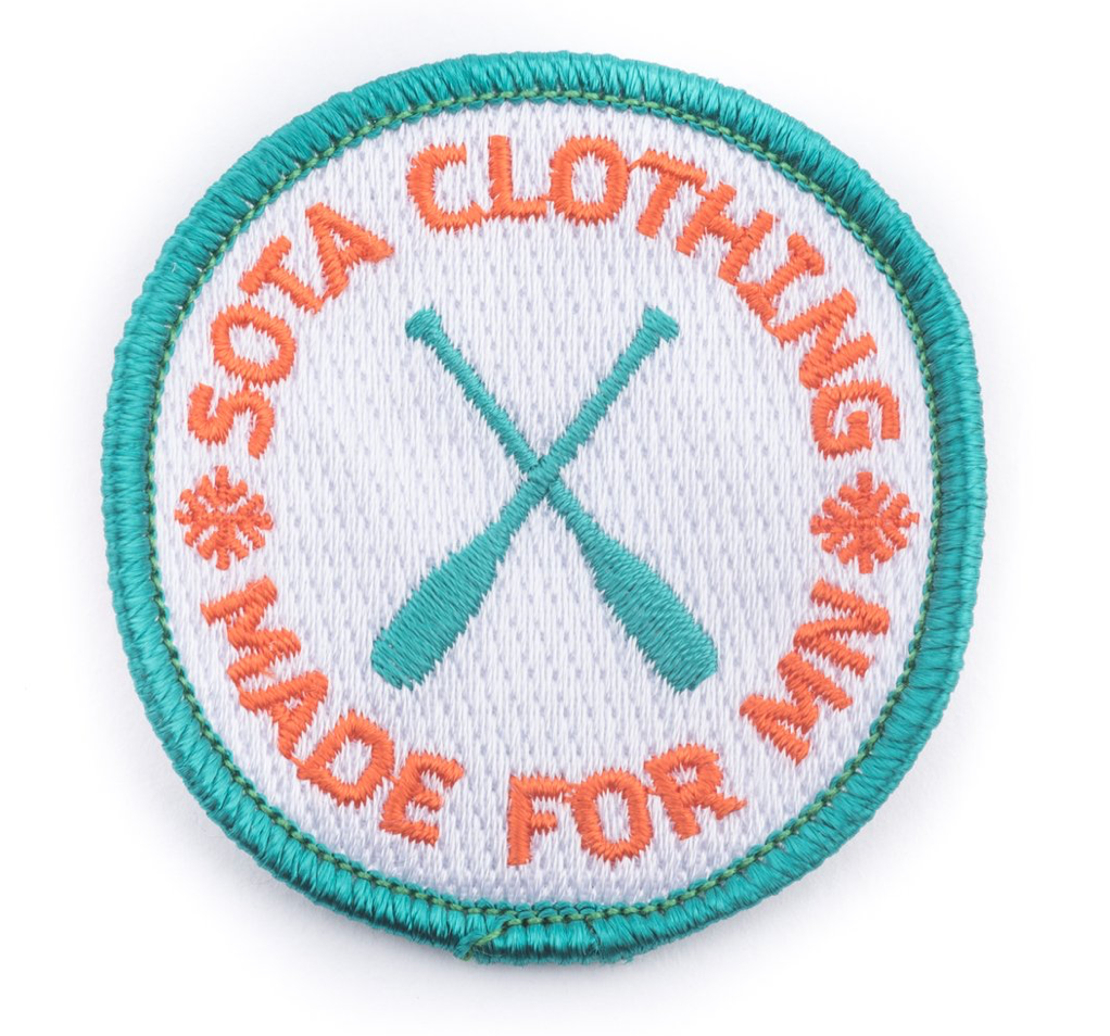 Sota Clothing Paddle Patch - Teal/Orange