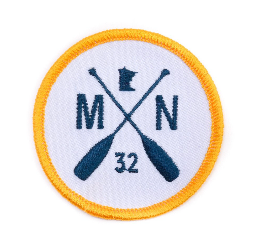 MN Paddle Patch - Gold Brim/ Navy Emblem