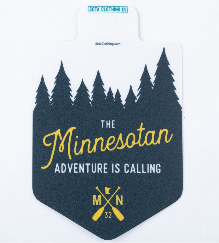 The Minnesotan Sticker - Green/Gold