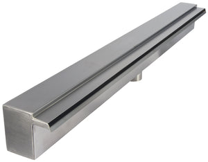 PondMAX Stainless Steel Waterwall – 30mm Lip 600mm Bottom Entry