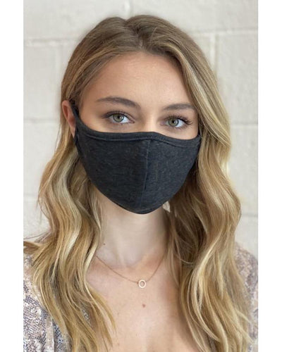 Simple Contoured Charcoal Cotton F-11 Face Mask