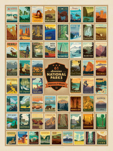National Parks Wonders 500 pcs Puzzle