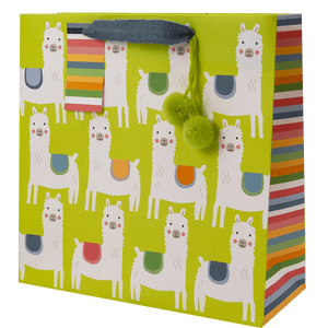 Little Llamas Medium Recycled Kraft Bag