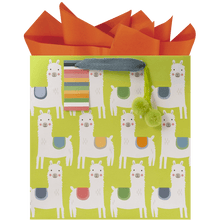 Load image into Gallery viewer, Little Llamas Medium Recycled Kraft Bag