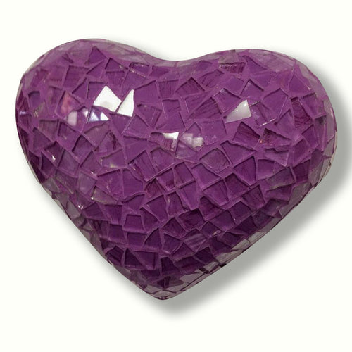 Baby Violet Mosaic Heart