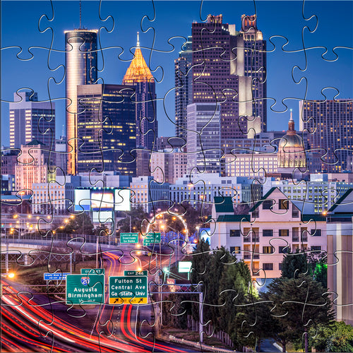 Wooden Atlanta Skyline Puzzle