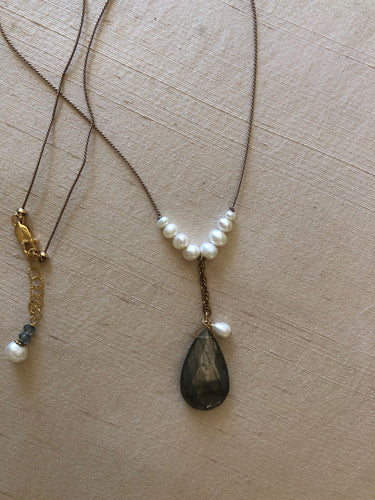 Labradorite Chain Drop Necklace