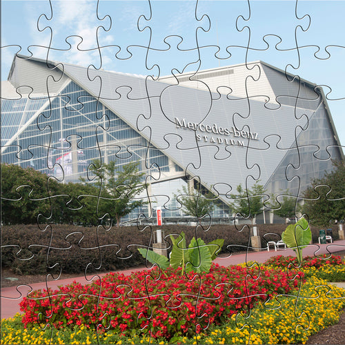 Wooden Mercedes Benz Stadium Puzzle