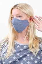 Load image into Gallery viewer, Denim Blue F-11 Face Mask Cotton