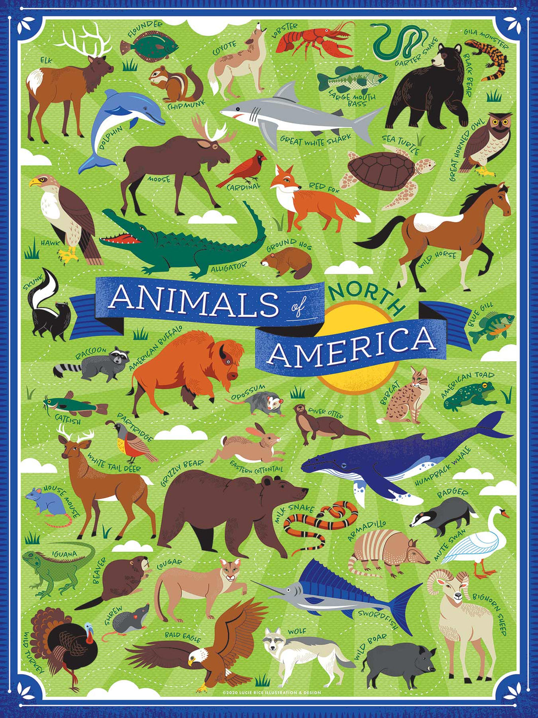 Animals of America Puzzle