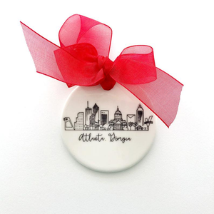 Atlanta, Georgia Skyline Porcelain Ornament