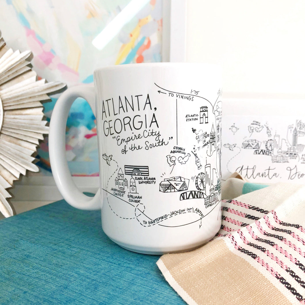 Atlanta Georgia Map Mug