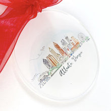 Load image into Gallery viewer, ATL Watercolor Skyline Acrylic Ornament